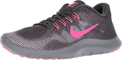 reputable site e6520 5bef7 Nike Flex RN 2018 (5-M, Anthracite Hyper Pink Wolf Grey