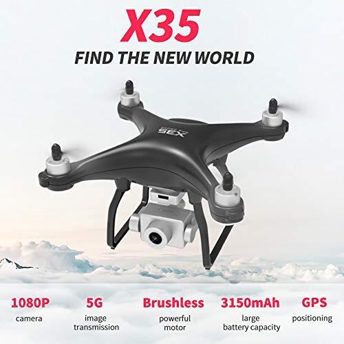 Benkeg Drone con cámara RC Drone X35 RC Drone con cámara 1080P Cámara 5G WiFi Drone sin escobillas 26min Tiempo de Vuelo…