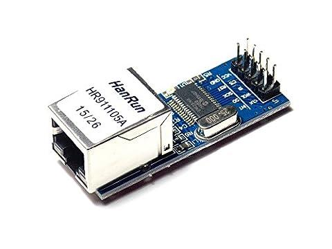 XO Mini ENC28J60 Ethernet LAN Network Module 51 AVR SPI PIC STM32 LPC For Arduino (Arduino Galileo 2)