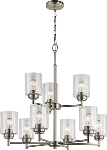 (Kichler Lighting 44031NI Nine Light Chandelier from The Winslow Collection, Brushed Nickel)