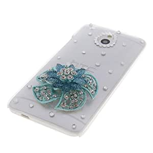 MOONCASE Bling Rhinestone Crystal Flower Style Devise Hard Back Case Cover For HTC One Mini M4