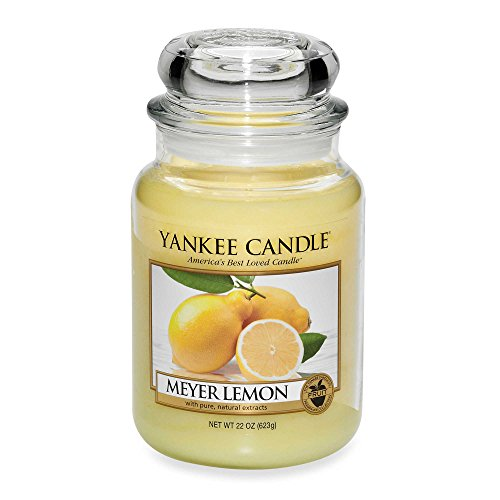 Yankee Candles Meyer Lemon Large Jar Candle,Fresh Scent