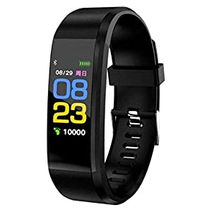 I-Birds Enterprises® 115 Fitness Activity Tracker Watch with Heart Rate Monitor, Waterproof Smart Band with Step Counter…