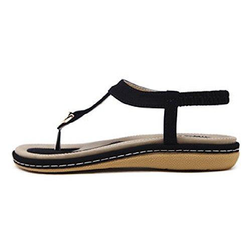 Btrada Womens Casual Sandalen Slip Op Slippers Prachtige Platte Schoenen Zwart