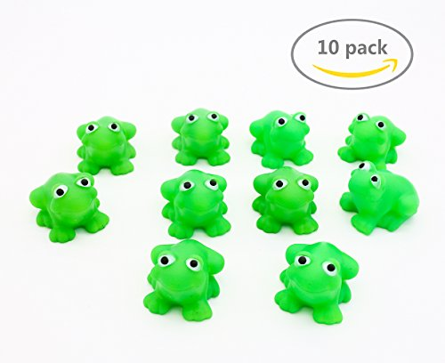 LovesTown Rubber Frog,Tub Toy,Bath Toy,10 (Small Frog)