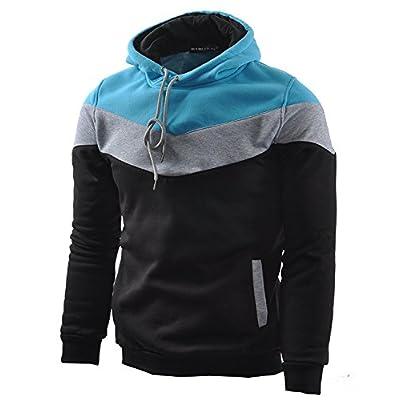 Mooncolour Mens Novelty Color Block Hoodies Cozy Sport Outwear at  Men's Clothing store