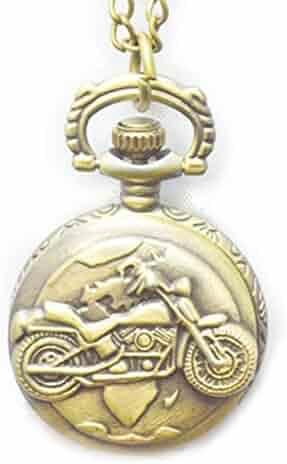 Boshiya Motorcycle Design Pocket Watch Boys Gift