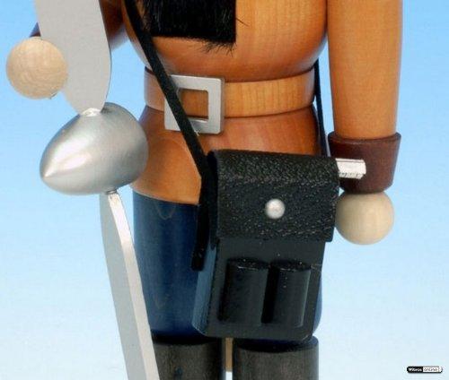 German Christmas Nutcracker Pilot natural colour - 25cm / 10 inches - Christian Ulbricht