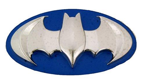 Batman 3d Silver Blue Finished Belt Buckle.]()