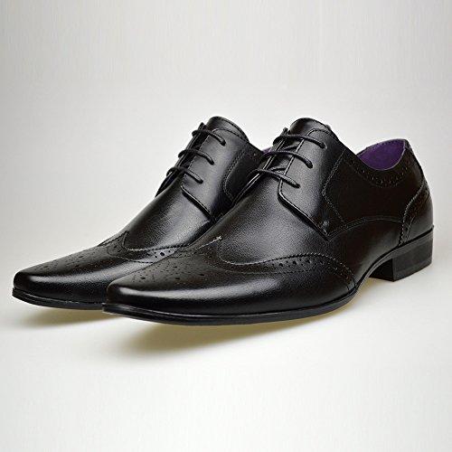 Robelli - Zapatos de cordones de Piel para hombre negro negro d6uBN