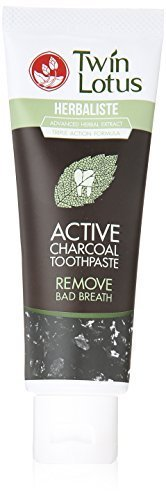 Herbal Toothpaste ACTIVE CHARCOAL Formula to Remove BAD BREATH and Whiten teeth naturally