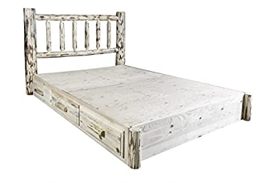 Montana Woodworks MWSBPQ Platform Bed with Storage, Queen