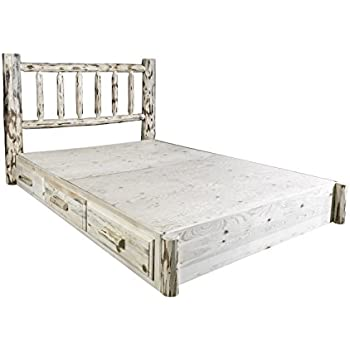 Montana Woodworks MWSBPQ Montana Collection Queen Platform Bed with Storage, Ready to Finish