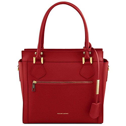 à cuir TUSCANY en Sacs Lara TL141644 main LEATHER Rouge wvqqfxEO