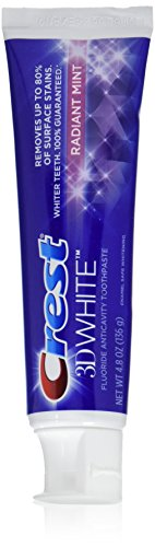 Price comparison product image Crest 3D White Radiant Mint Whitening Toothpaste, 4.8 oz ,2 Count
