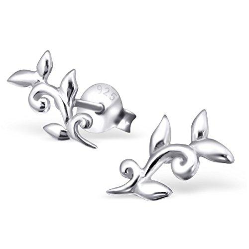 """Pro Jewelry .925 Sterling Silver """"Ivy"""" Stud Earrings 6635"""