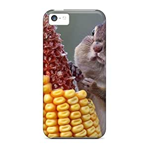 USMONON Phone cases For Iphone Case, High Quality Chipmunk Eating Corn For Iphone Iphone 5c Cover Cases