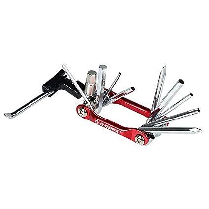 10 en 1 multifuncional Set de herramientas de reparación para bicicleta plegable cuchillo de seguridad Militar