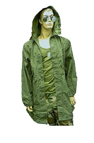 (Vintage GI USA Army Military Camo, Night Desert Fishtail Parka with Hood Size Small)