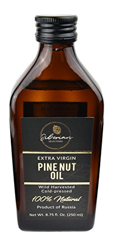 Siberian Pine Nut Oil Extra Virgin (8.75 fl oz / 250 mL) - 100% Natural, Organic, Wild Harvested, Cold-Pressed, Authentic, Made in Siberia. NO PRESERVATIVES/ADDITIVES! by Siberian Selections