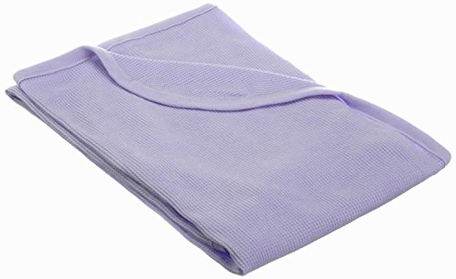 American Baby Company 30X 40-Soft100% Natural Cotton Thermal/WaffleSwaddleBlanket, Lavender, Soft Breathable, for Girls