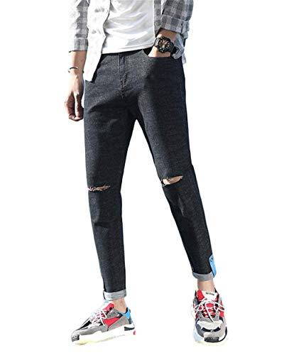 para Vaqueros Vaqueros De Agujeros Mezclilla Ropa Jeans Pantalones Pantalones Pitillo ADELINA Cher Color 1808black Pantalones Rasgados Elásticos Pantalones Hombres Lavados Pantalones De Claro AqIwdg1U