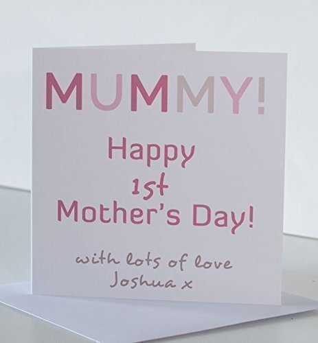 1st mothers day card from son or daughter for mummy personalised 1st mothers day card from son or daughter for mummy personalised mummy mothers day card m4hsunfo