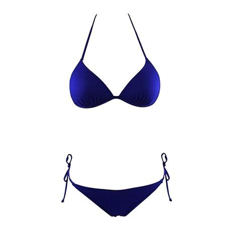 NEMACH Bikinis, Traje de baño de Split triángulo Femenino Caramelo ...