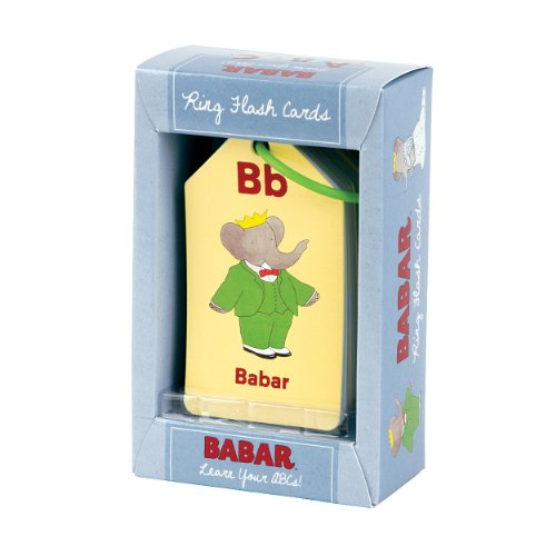 Mudpuppy Babar Learn Your ABCs! Ring Flash Cards by Mudpuppy
