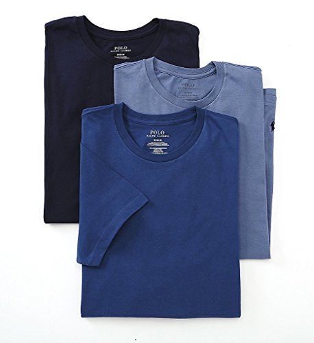 Polo Ralph Lauren Classic Crew Neck T-Shirt 3-Pack,Navy - Ralph Lauren Discount Kids