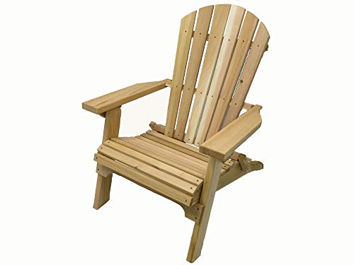 Cedar Lounge Chair - Kilmer Creek Folding Natural Cedar Adirondack Chair, Amish Crafted