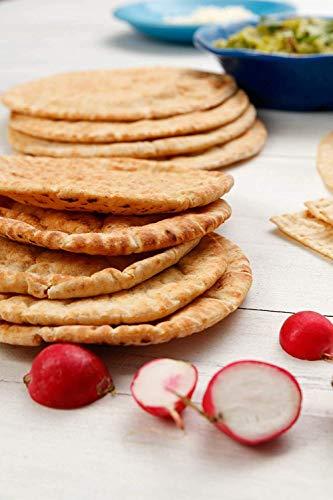 Joseph's Low Carb MINI Pita Bread 3-Pack, Flax, Oat Bran and Whole Wheat, 5g Carbs Per Serving (8 Per Pack, 24 MINI Pita Breads Total)