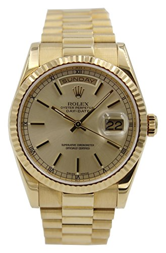 President 18k Yellow Gold Case (Rolex Day-Date automatic-self-wind mens Watch 118238 (Certified Pre-owned))