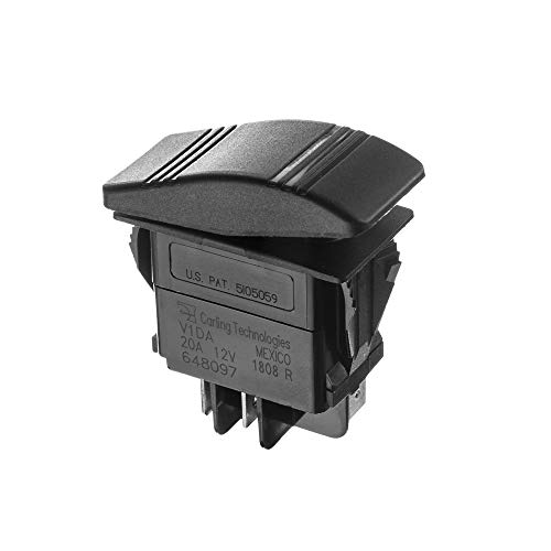 (SEACHOICE 12961 Illuminated Contura Rocker Switch On/Off Black)