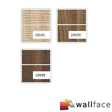 Revestimiento mural aspecto madera WallFace 19101 MAPLE ALPLINE 8L arce decoración cintas metálicas cepilladas panel de pared adhesivo marrón claro 2,60 m2: ...