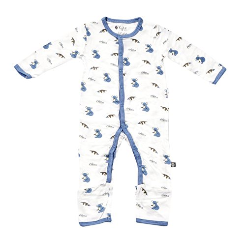 Kyte BABY Rompers - Baby Footless Coveralls Made of Soft Organic Bamboo Material - 0-24 Months - Printed Color (0-3 Months, Aussie)