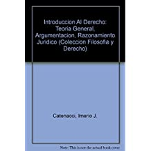 Introduccion Al Derecho: Teoria General, Argumentacion, Razonamiento Juridico