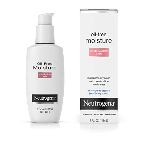 Neutrogena Oil-Free Lightweight Daily Facial Moisturizer Moisturizes Dry Skin without adding shine, Non Comedogenic, 4 fl. oz