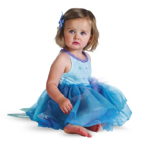 Disguise Baby Girl's Disney Ariel Prestige Costume, Blue Green, 12-18 Months
