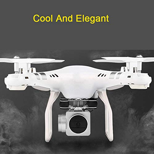 Hengfuntong-Elec WiFi FPV Drone with 1080P HD Camera, Foldable RC Quadcopter, Wide-Angle Live Video/Voice Control/Gravity Sensor/3D Flips Headless Mode/One Key Take Off/Landing White