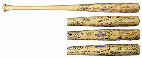 - 2016 Chicago Cubs Team Autographed/Signed Louisville Slugger 2016 World Series Champion Logo Baseball Bat 26 Sigs - Authentic Signature