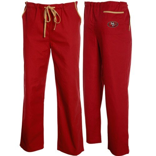 San Francisco 49ers Cardinal Scrub Pants (XX-Large) by Football Fanatics