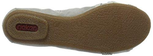 Rieker 41461 Women Closed Toe - Bailarinas Mujer Gris - Grau (grey/ice/fango-silver / 40)