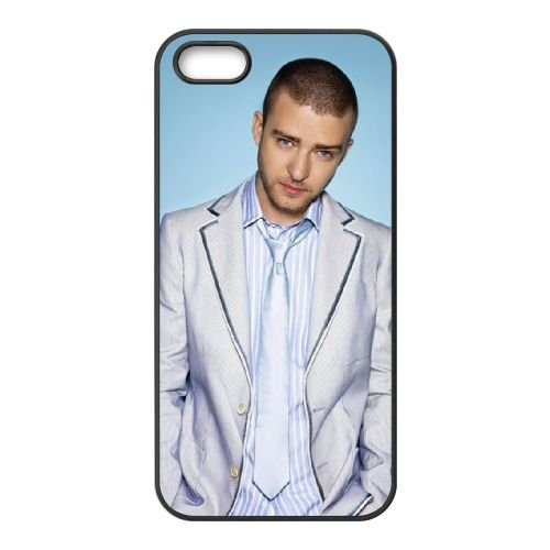 Justin Timberlake coque iPhone 5 5S cellulaire cas coque de téléphone cas téléphone cellulaire noir couvercle EOKXLLNCD25035