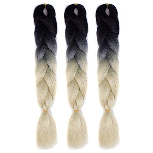 Willsa 1PC New Fashion Womens Gradient Long Braid Wavy Party Wigs -