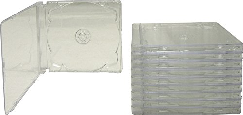 (10) Assembled Standard Clear CD Super Jewel Boxes and Trays