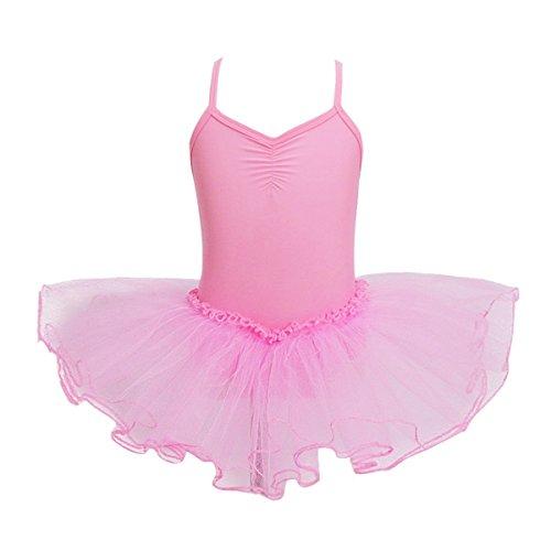 YiZYiF Child Baby Girl Sleeveless Ballet Tutu Dress Leotard Dancewear Pink 3-4