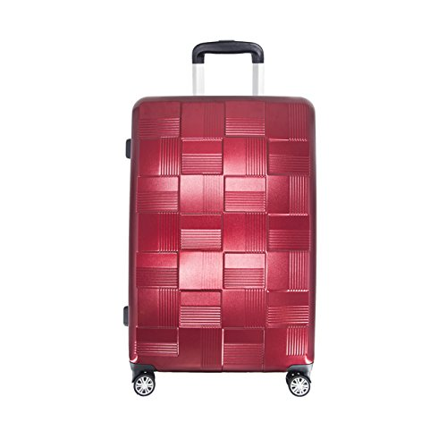 Luggage Carry On VIAGE Lightweight Expandable Travel Suitcase with TSA Lock and Spinner Wheels A36-20 24 28 inch (28, RED) by VIAGE