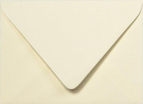 A-2 Natural Cream Linen Euro Flap RSVP Envelopes (4 3/8