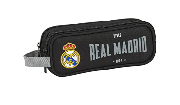 SAFTA 812024513 Estuche portatodo Doble 2 Cremalleras Escolar Real Madrid CF, Multicolor: Amazon.es: Equipaje